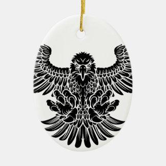 Eagle Swooping Ornement Ovale En Céramique