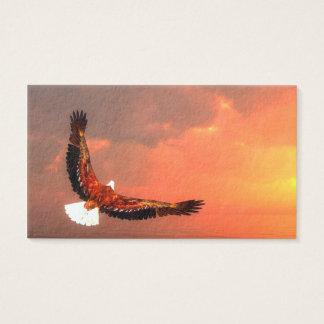 Eagle volant au soleil - 3D rendent Cartes De Visite