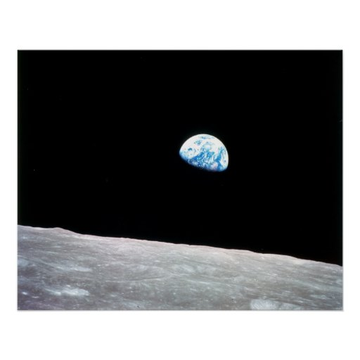 Earthrise de lune posters