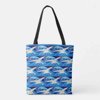 Eau de mer d'oiseau de mouettes d'océan de plage tote bag