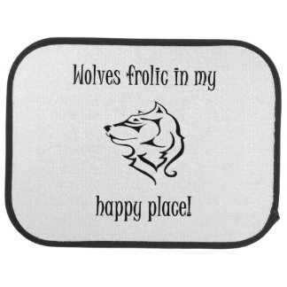 Ébat de loups dans mon endroit heureux tapis de voiture