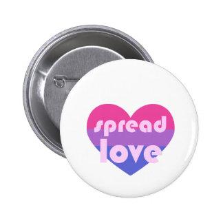 Écartez l'amour bisexuel badge