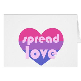 Écartez l'amour bisexuel carte de vœux