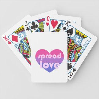 Écartez l'amour bisexuel cartes à jouer