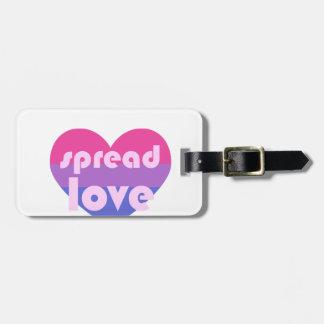 Écartez l'amour bisexuel étiquette pour bagages