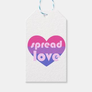 Écartez l'amour bisexuel étiquettes-cadeau