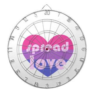 Écartez l'amour bisexuel jeu de fléchettes