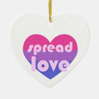 Écartez l'amour bisexuel ornement cœur en céramique