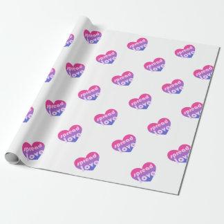 Écartez l'amour bisexuel papiers cadeaux