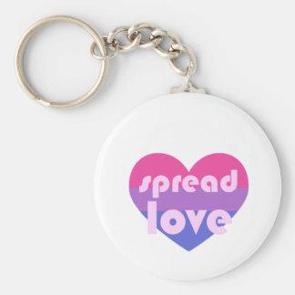 Écartez l'amour bisexuel porte-clé rond