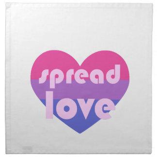 Écartez l'amour bisexuel serviettes