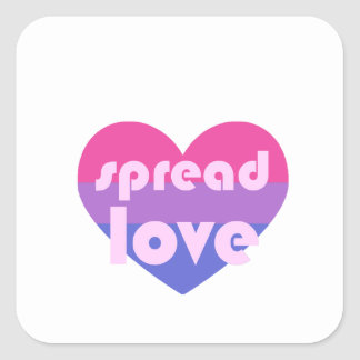 Écartez l'amour bisexuel sticker carré