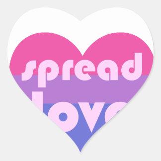 Écartez l'amour bisexuel sticker cœur