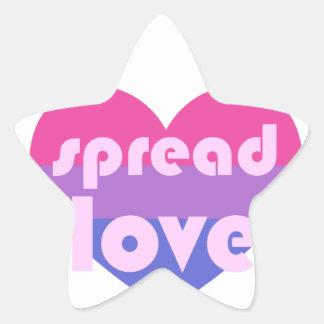 Écartez l'amour bisexuel sticker étoile