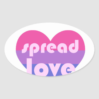 Écartez l'amour bisexuel sticker ovale