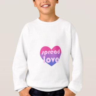 Écartez l'amour bisexuel sweatshirt