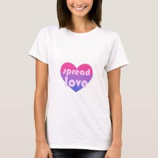 Écartez l'amour bisexuel t-shirt