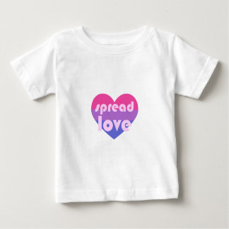Écartez l'amour bisexuel t-shirt pour bébé