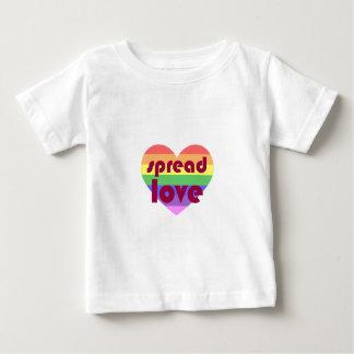 Écartez l'amour gai t-shirt pour bébé