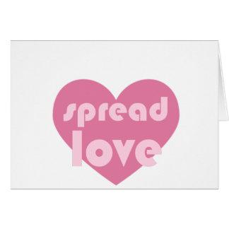 Écartez l'amour (général) carte de vœux