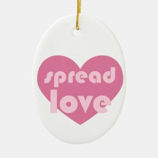 Écartez l'amour (général) ornement ovale en céramique