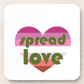 Écartez l'amour lesbien sous-bock