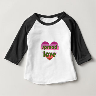 Écartez l'amour lesbien t-shirt pour bébé