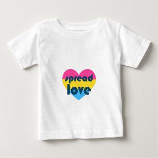 Écartez l'amour Pansexual T-shirt Pour Bébé
