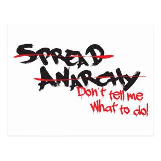 Écartez l'anarchie ! carte postale