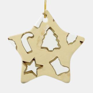 Échange de biscuit ornement étoile en céramique