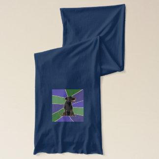 Écharpe Art noir de labrador retriever