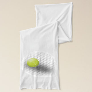 Écharpe Balle de tennis verte blanche d'écharpe de tennis