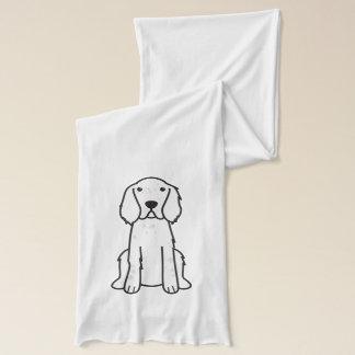 Écharpe Bande dessinée de chien de poseur anglais