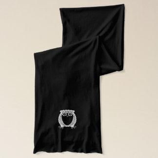 Écharpe Beaux couples de hibou - motif élégant de dentelle