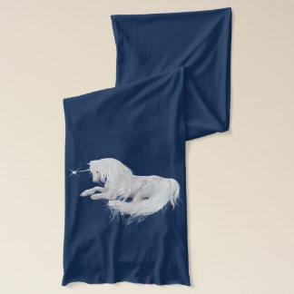 Écharpe Belle licorne blanche