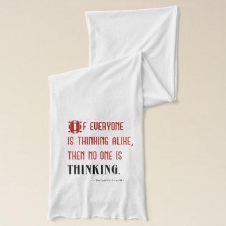 Écharpe Benjamin Franklin pensant la citation -