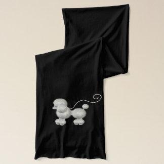 Écharpe blanche pelucheuse de caniche