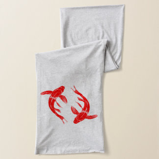 Écharpe Carpe rouge de poissons de Koi