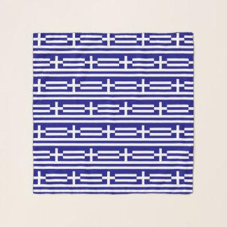 Écharpe carrée avec le drapeau de la Grèce
