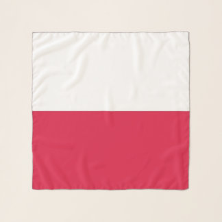 Écharpe carrée avec le drapeau de la Pologne