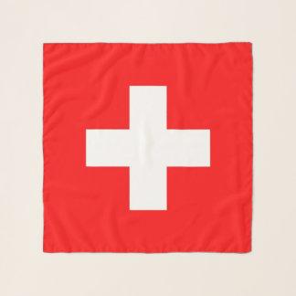Écharpe carrée avec le drapeau de la Suisse
