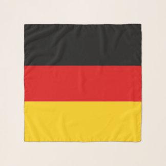 Écharpe carrée avec le drapeau de l'Allemagne