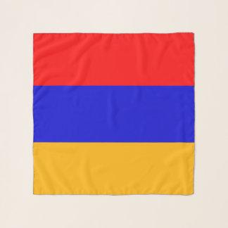 Écharpe carrée avec le drapeau de l'Arménie