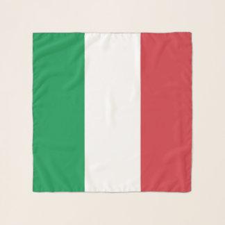 Écharpe carrée avec le drapeau de l'Italie
