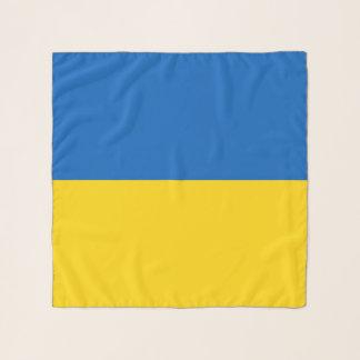 Écharpe carrée avec le drapeau de l'Ukraine