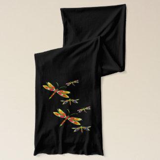 écharpe colorée de libellules
