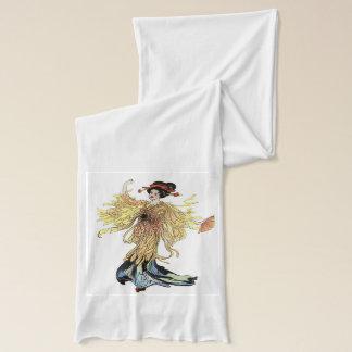Écharpe de blanc de Madame Butterfly