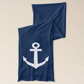 Écharpe de bleu marine avec la conception nautique