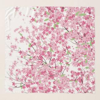 Écharpe de Chifon de fleurs de cerisier