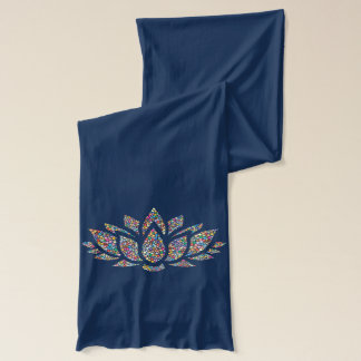 Écharpe de lotus bleu